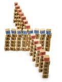 Изолированные слова блоков аддитивного производства деревянные Стоковая Фотография