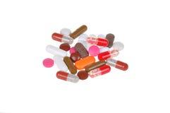 изолированные таблетки белые Стоковые Фотографии RF