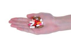 изолированные таблетки белые Стоковые Фото