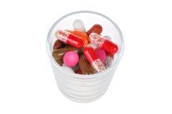 изолированные таблетки белые Стоковые Изображения RF