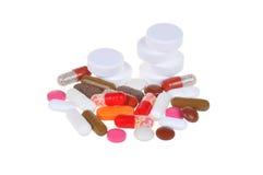изолированные таблетки белые Стоковые Изображения