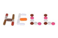 изолированные таблетки белые Стоковая Фотография