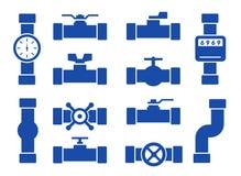 Изолированные установленные трубы Стоковые Фотографии RF