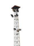 изолированные фары ans дикторов на башне Стоковое фото RF