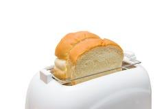 Изолированные хлеб и тостер Стоковое Изображение RF