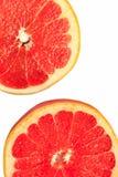 Изолированные части грейпфрута Стоковые Изображения RF