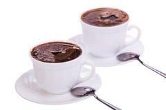 Изолированные чашки кофе на белизне Стоковая Фотография