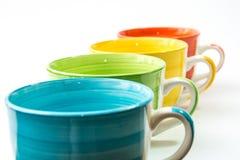 Изолированные чашки Стоковая Фотография