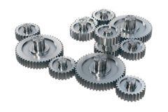 Изолированные шестерни металла Стоковое Изображение