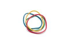 Изолированные эластичные резиновые ленты Стоковые Фото