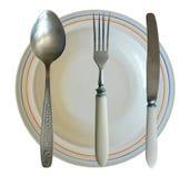Изолированные элементы Tableware столового прибора Стоковые Изображения