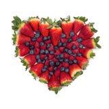 Изолированные ягоды возлюбленн валентинки Стоковое Изображение RF