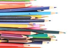 изолированные crayons цвета Стоковые Изображения