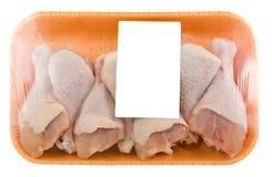 Изолированные drumsticks цыпленка Стоковые Фото