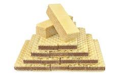 Изолированные waffles пирамиды Стоковые Изображения RF