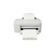 Изолированный лазерный принтер Стоковая Фотография