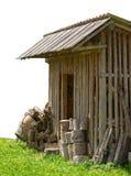 Изолированный амбар сарая страны деревянный Стоковая Фотография RF