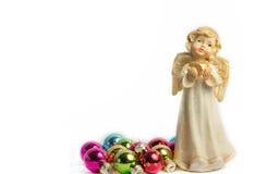 Изолированный ангел рождества, Стоковые Изображения