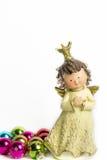 Изолированный ангел рождества, Стоковые Фото