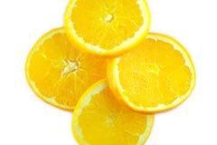 Изолированный апельсин, плодоовощ Стоковое Изображение