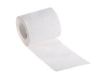 Изолированный белый крен туалетной бумаги Стоковая Фотография