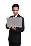 Изолированный бизнесмен беспокойства Стоковая Фотография RF