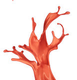 изолированный брызгать снятый краской Стоковое Фото