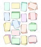 Изолированный бумажный лист handmade Страница в стиле эскиза Стоковые Фото
