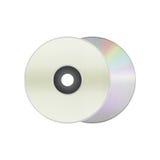 Изолированный бумажный отрезок компактного диска диска, dvd, диска сине-Рэй рекордные данные Стоковые Фото