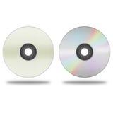 Изолированный бумажный отрезок компактного диска диска, dvd, диска сине-Рэй рекордные данные Стоковая Фотография