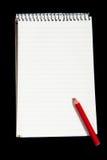 Изолированный блокнот с путем клиппирования Стоковое Изображение