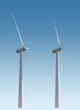 изолированный ветер турбин бесплатная иллюстрация