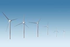 изолированный ветер турбин стоковые фотографии rf