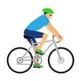 Изолированный велосипедист Стоковое Изображение