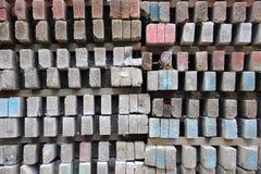 Изолированный взгляд на поляках деревянной конструкции Стоковая Фотография RF