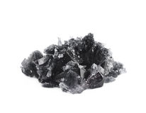 Изолированный выращенный кристалл соли Стоковые Фото