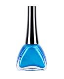 Изолированный голубой маникюр Стоковое Фото