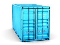 Изолированный грузовой контейнер иллюстрация штока