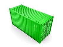 Изолированный грузовой контейнер иллюстрация вектора