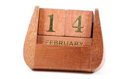Изолированный деревянный календарь Стоковая Фотография