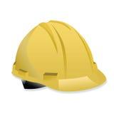 Изолированный желтый шлем на белой предпосылке Стоковое Фото