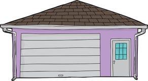 Изолированный закрытый гараж двери бесплатная иллюстрация