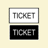 Изолированный значок билета Стоковое Изображение RF
