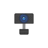 Изолированный значок веб-камера вектора Стоковые Фотографии RF