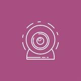 Изолированный значок веб-камера Стоковые Фотографии RF