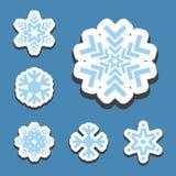 Изолированный значок вектора снежинки Стоковое Фото