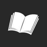 Изолированный значок книги, черно-белая предпосылка образования Стоковые Фото