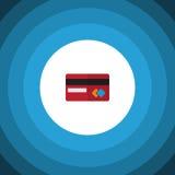 Изолированный значок кредитной карточки плоский Элемент вектора оплаты можно использовать для Mastercard, кредита, идеи проекта к Стоковая Фотография RF