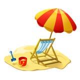 Изолированный значок пляжа Стоковое Фото
