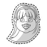 Изолированный дизайн девушки Стоковые Изображения RF